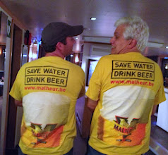 Photo: Two repeat beercationers sporting their shirts from their last Beercation!