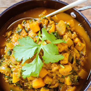 Butternut Squash and Red Lentil Curry.