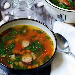 Turkey Kielbasa & Large Butter (Lima) Bean Soup – Serves 6.