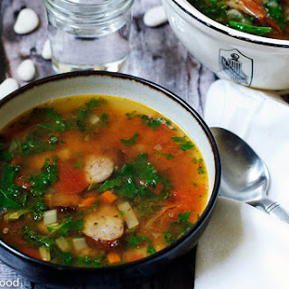 Turkey Kielbasa & Large Butter (Lima) Bean Soup – Serves 6.