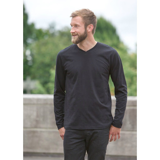 Neutral Long Sleeve Organic Mens T-shirt