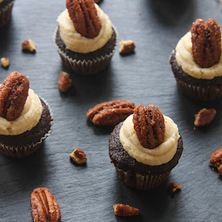 Chocolate Pumpkin Cupcakes with Brown Sugar Frosting Recipe