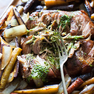 Paleo Pork Roast Slow Cooker Recipe with a Sugar Free Chimichurri Sauce! (Gluten-Free, Clean Eating, Dairy-Free, Whole30).