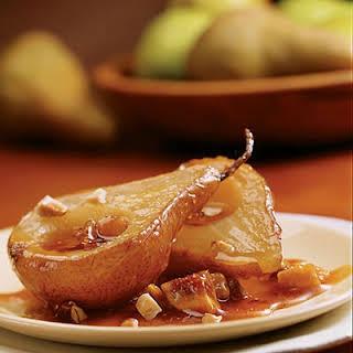 Roasted Pears with Orange-Caramel Sauce.