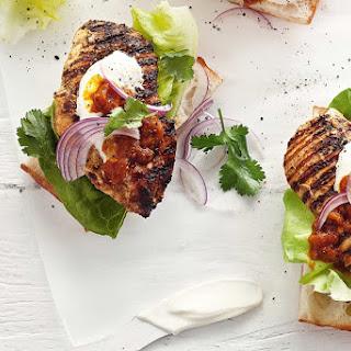 Chicken Tikka Burgers With Tomato Kasundi.