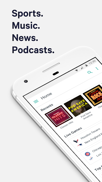TuneIn: Stream NFL Radio, Music, Sports & Podcasts Android 1