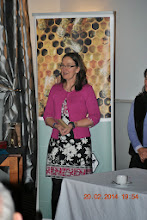 Photo: GIFT's Janet Wilson tell INIB AGM attendees a little about their very successful work in Kenya.