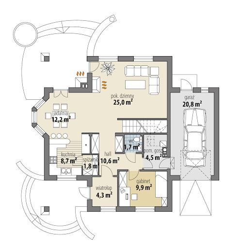 Aridela I Multi-Comfort - Rzut parteru