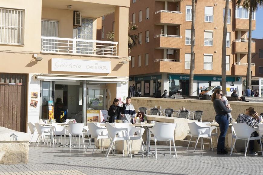 Las terrazas con un gran reclamo de esta zona de la ciudad.