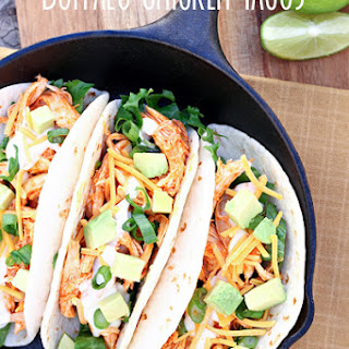 Easy Buffalo Chicken Tacos.