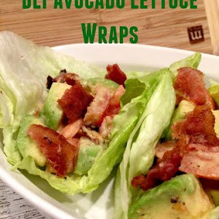 BLT Avocado Lettuce Wraps.