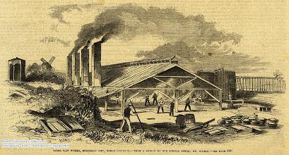 "Photo: ""Rebel salt works, Morehead City, North Carolina."" Supplement to Frank Leslie's Illustrated Newspaper, April 26, 1862, page 409."