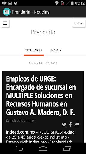 Prendaria - Noticias