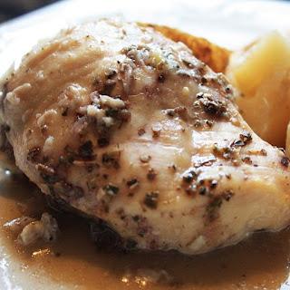 Crock Pot Lemon-Garlic Chicken Breasts.