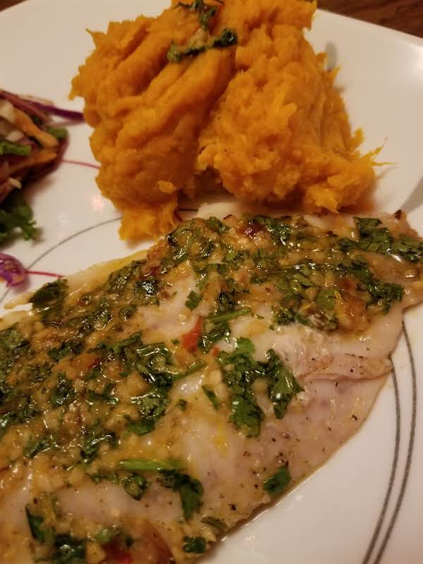 Moroccan Spiced Fish With Sweet Potato Mash Recipe