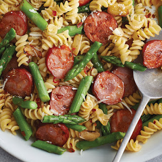 CHORIZO AND ASPARAGUS PASTA