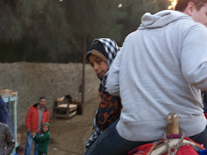 Photo: This little boy drove the camel for Stratton.