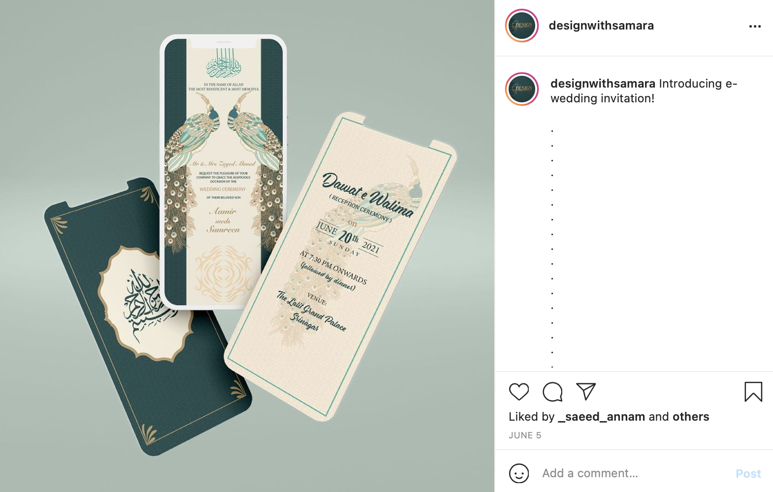 example of digital wedding invitations