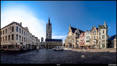 Photo: Sint-Baafsplein, Gent. Stitched Panorama 12 images.