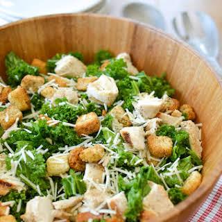 Kale Chicken Caesar Salad.