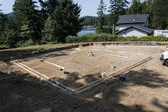 Photo: Started a custom for another builder.  We are doing the foundation, framing and siding.