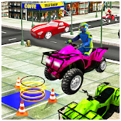 Quad Bike Parking Game 3D