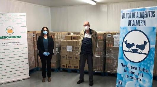 Mercadona entrega 2.612 kilos de productos al Banco de Alimentos de Almería