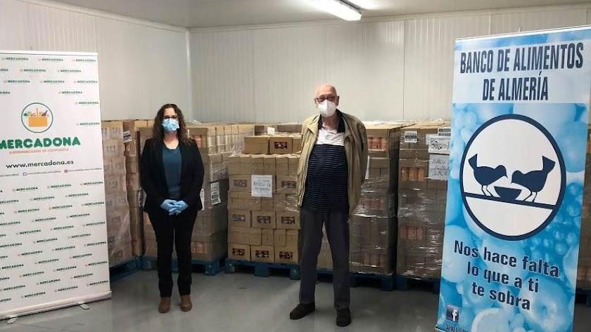 Donación al Banco de Alimentos de Almería.