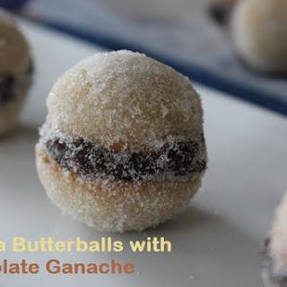 Vanilla Butterballs with Chocolate Ganache.