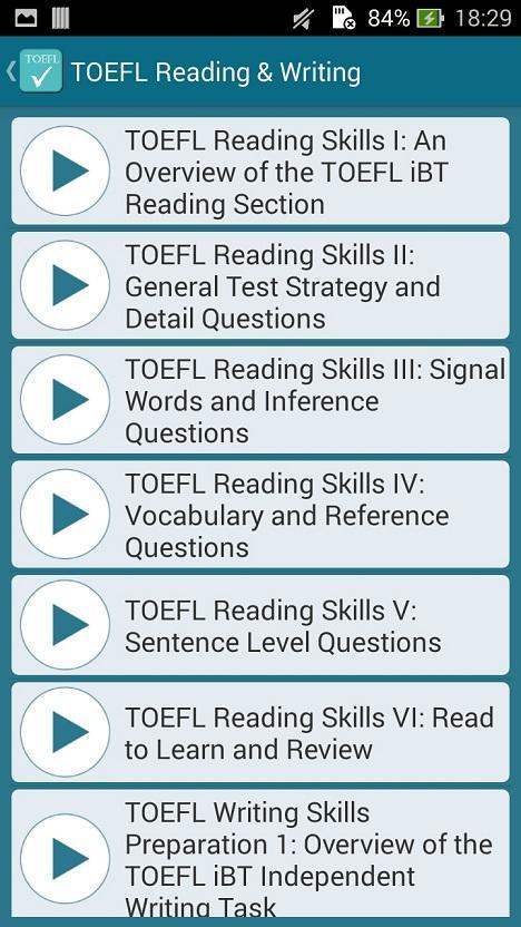 TOEFL question, how to practice?