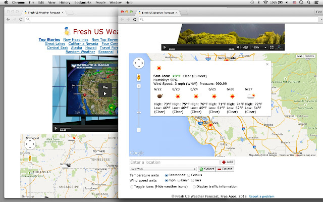 Fresh US Weather Forecast Chrome Web Store - Us weather maps forecast weather