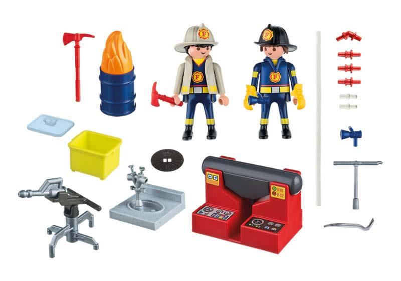 Contenido real de Playmobil® 5651 Maletín Grande Bomberos