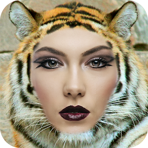 Animal Face Photo Montage Icon