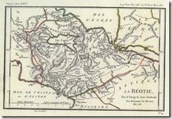 Ιστορικός χάρτης της Βοιωτίας
