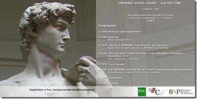 invitation UNIMARC