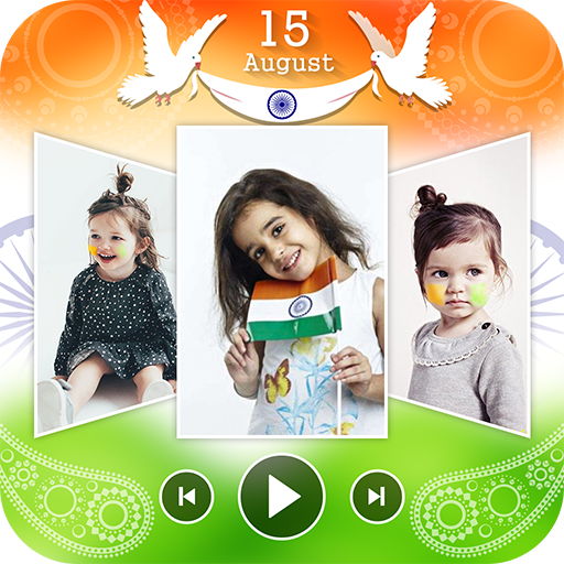 Independence Photo Video Maker Music : 15 August