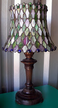 Photo: TIFFANY-STYLE STAINED GLASS LAMP