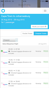 Cheap Flights South Africa- screenshot thumbnail