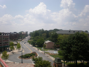 Photo: view of part of Morehouse campus from parking garage