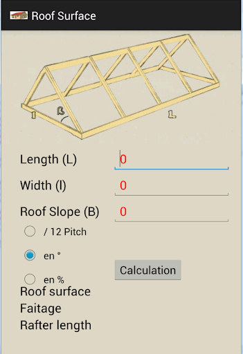 Roof Surface Calculator
