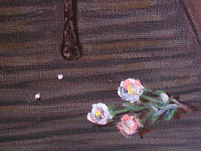 el perfume derramado oleo lienzo pintura paint oil