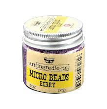 Prima Finnabair Art Ingredients Micro Beads 2oz - Berry