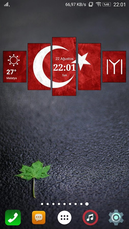 Homeland Digital Clock Widget- screenshot
