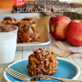 Apple Bacon Sticky Biscuits