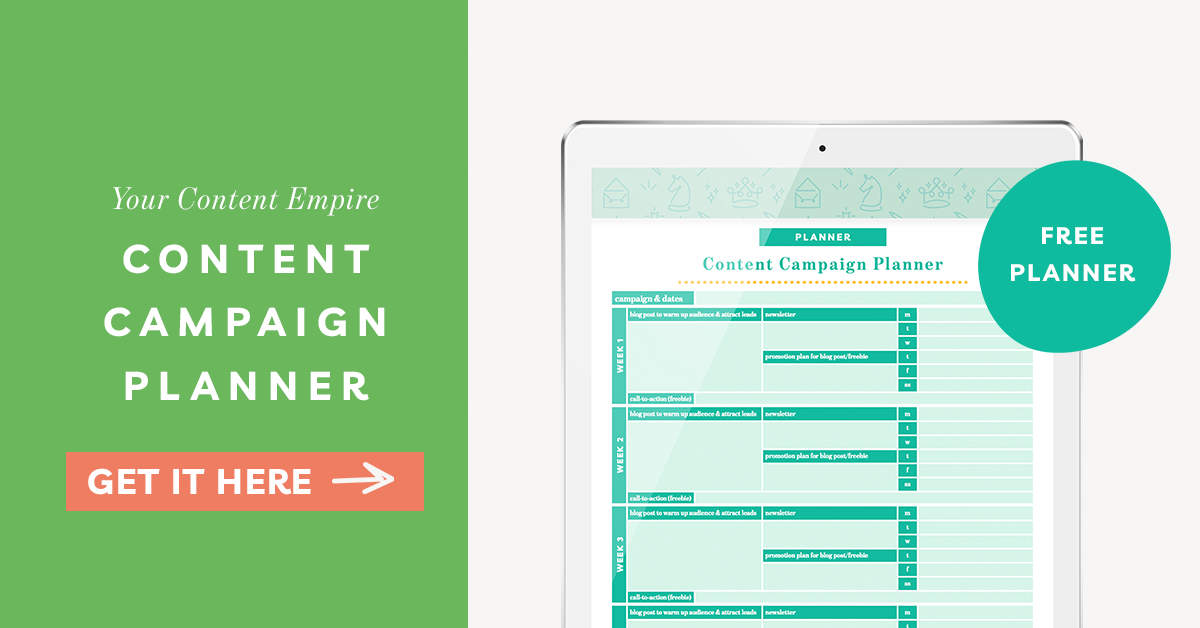 Freebie | Content Campaign Planner