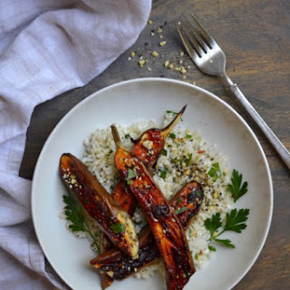 Miso Chili Glazed Eggplant