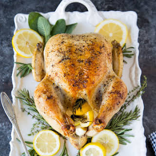 Roasted Chicken with Lemon, Garlic & Rosemary.