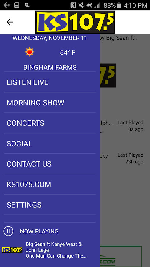 KS107.5 -Today's Hottest Music- screenshot