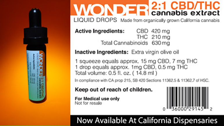 Wonder CBD Extract Oil 2:1 THC/CBD Ratio