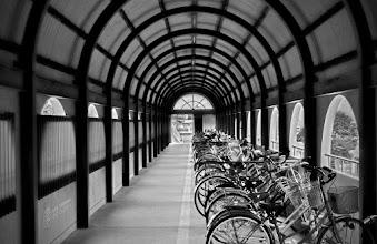 Photo: Bike tunnel in Chayamachi, Okayama Prefecture, Japan.